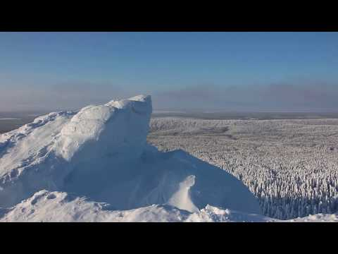 Гора Полюд возле Красновишерска зимой