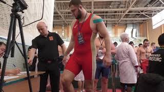Взвешивание борцов Россия до 21 года до 125 кг