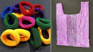 3 Super Easy Ideas using Hair band, Polybag, Wool - DIY Crafts