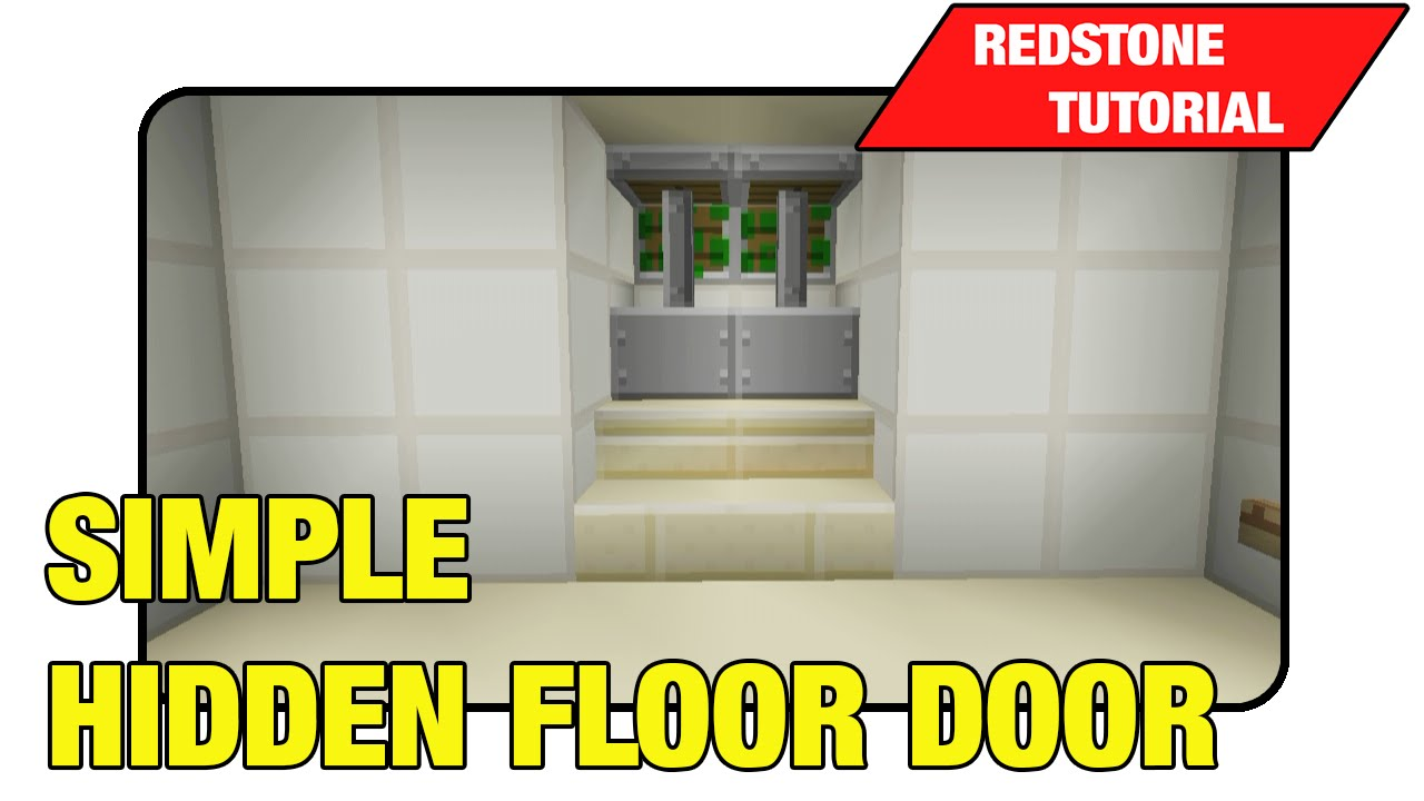 Simple Hidden Floor Door [Two Way Trap Door]\
