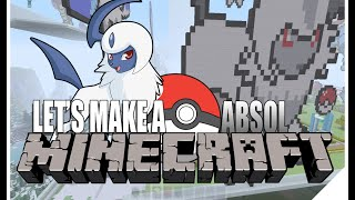 Minecraft Pixel Art Tutorial | Pokemon Absol  [Speed Art]