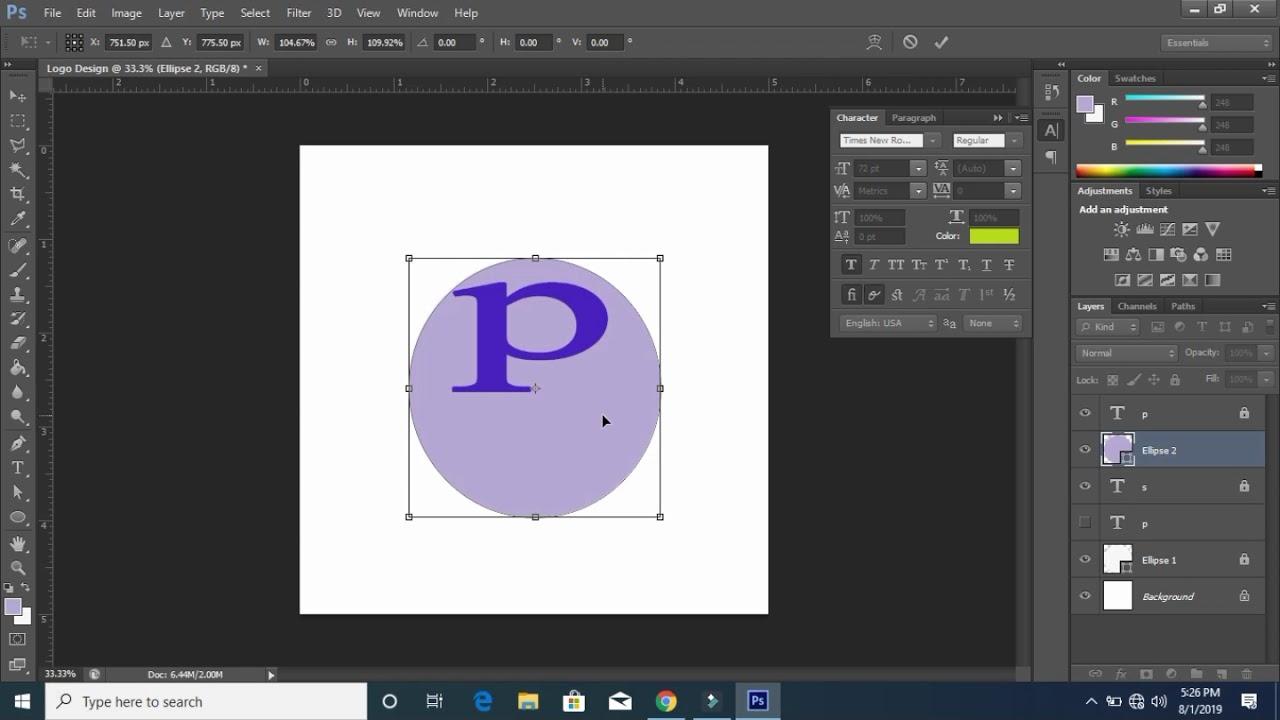 logo design    Logo Design Photoshop Tutorial    Graphic Design Bangla Tutorial-1