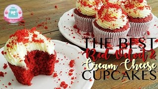 PERFECT RED VELVET & CREAM CHEESE CUPCAKE RECIPE | Abbyliciousz The Cake Boutique
