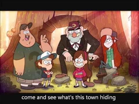 Gravity Falls Wallpaper Bill Gravity Falls Opening With Lyrics Youtube