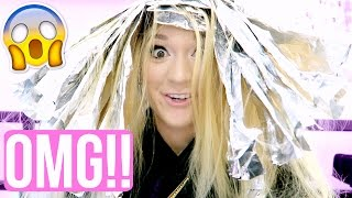 dying my hair more blonde omg