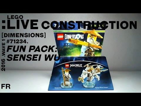 LIVE CONSTRUCTION] LEGO Dimensions : Fun Pack: Sensei Wu [Français ...
