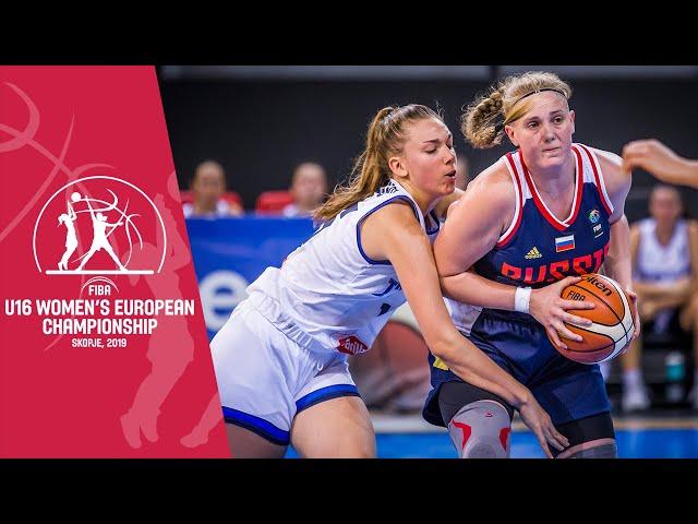 LIVE - Italy v Russia - FIBA U16 Women's European Championship 2019