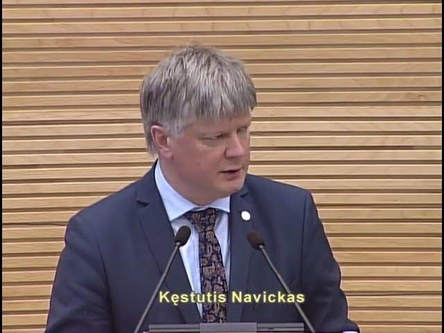 Aplinkos ministro K.NAVICKO ataskaita dėl MIŠKŲ REFORMOS ir PLYNŲ KIRTIMŲ, 2018 03 27, SEIMAS