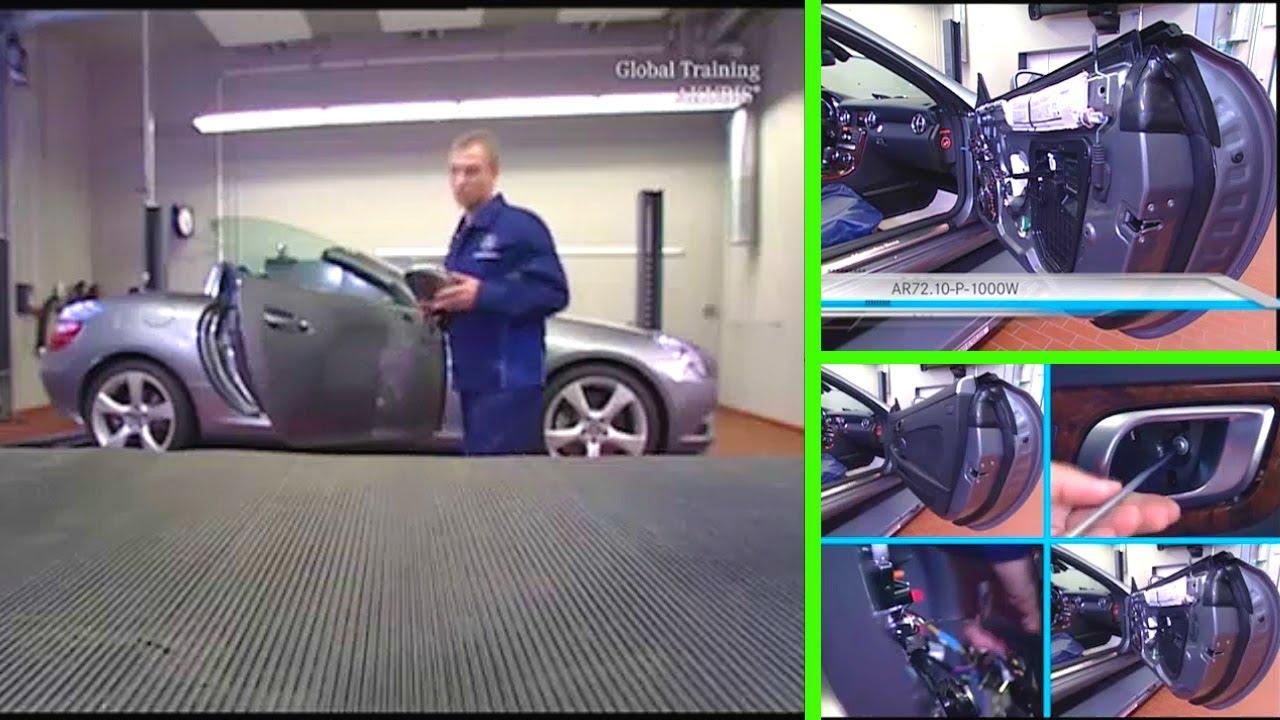 Mercedes Benz SLK Removeinstall outside mirror YouTube