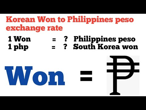Korean Won To Philippines Peso Exchange Rate | Php To Won |won To Php | Korean Won To Php,krw To Php