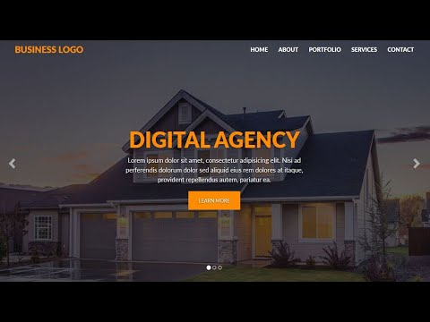 How to Create a Website using HTML CSS and Bootstrap   Kenburns Effect