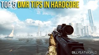 Battlefield 4 (PS4) - Top 5 Tips For Using A DMR in Hardcore (BF4 Gameplay)