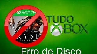 Erro de Disco Xbox One, Instalação Travada em %, Instalação Interrompida