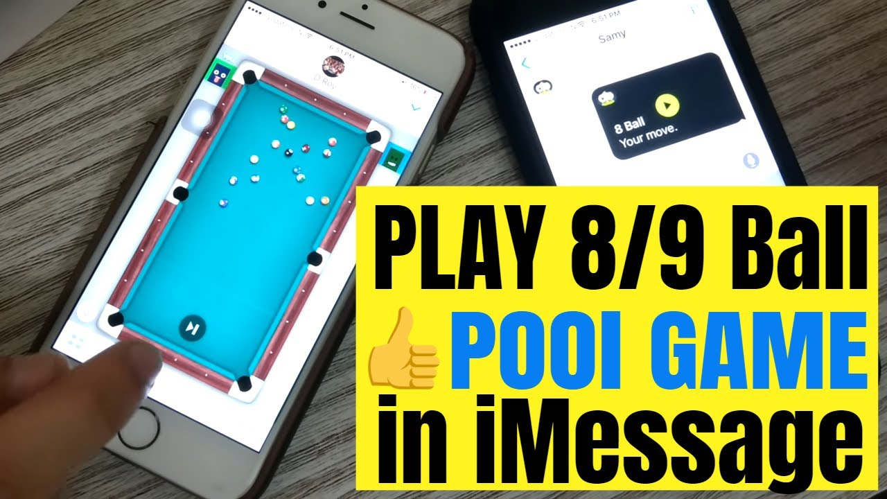 How to Play iMessage 8 Ball Pool iPhone Game Rules,Cheats