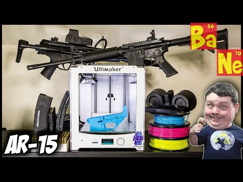 3D Printing AR-15 lower receiver on Desktop 3D Printer using Plastic!