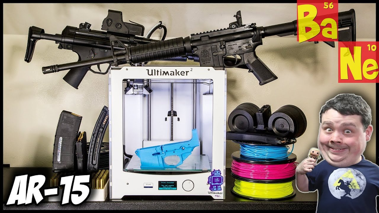 I 3D Printed an AR-15 Assault Rifle Lower Receiver on my 3D Printer in PLA  😎