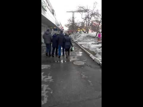 Drunken people in Novosibirsk