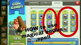 Clan Game finished !!! How to use magical books,items coc