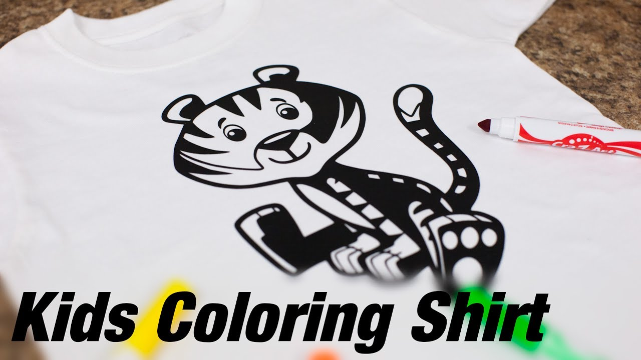 Kids Washable Coloring Shirt Using Siser EasyWeed HTV and the TRW Kids  Vector Pack