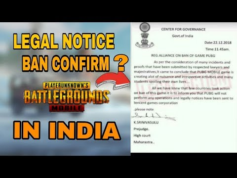 Legal Notice | Pubg Mobile ban in India | Real of Fake