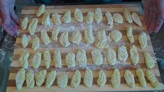 Постное блюдо. Ньокки из картофельного теста с грибами.