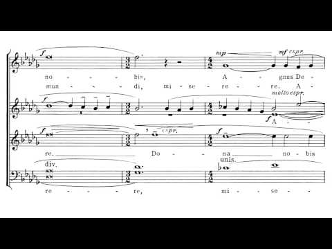 Samuel Barber - (SATB choir) Agnus dei (with score)