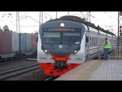 Электропоезд ЭД4М-0460 ЦППК станция Кубинка-1 2.07.2018