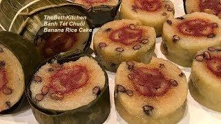 Cách làm Bánh Tét Chuối thơm ngon cho ngày Tết _ Banh Tet Chuoi
