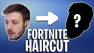 Getting a haircut but it's on stream and I'm playing Fortnite