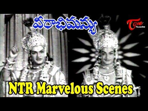 Sr NTR's Lord Krishna Viswa Roopam    Hilight Scenes from Veerabhimanyu Movie