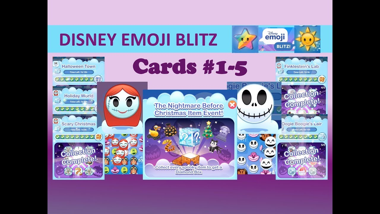 disney emoji blitz nightmare before christmas event jack sally emoji power gameplay