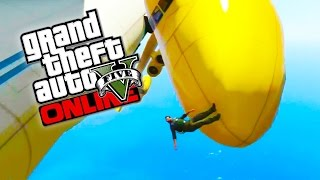 GTA 5 Online - Epic Yellow Cargo Plane! Crazy GTA 5 Stunts & Fails! (GTA 5 Funny Moments)