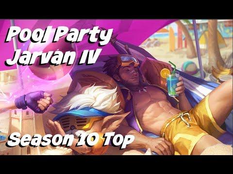 League of Legends: Pool Party Jarvan IV Top Gameplay