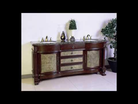 antique double vanity