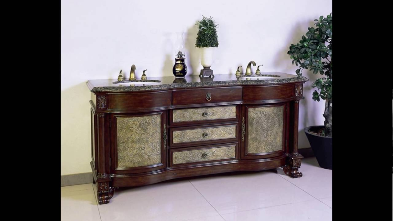 antique double vanity - Antique Double Vanity - YouTube