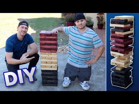 Diy Giant Jenga How To Make