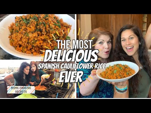 The Most Delicious Spanish Cauliflower Rice (Keto, low carb, healthy)