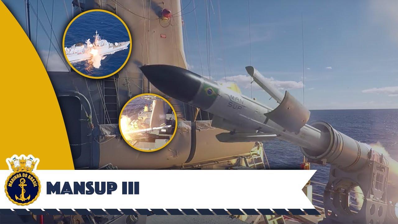 Lançamento do terceiro Míssil Antinavio de Superfície (MANSUP)