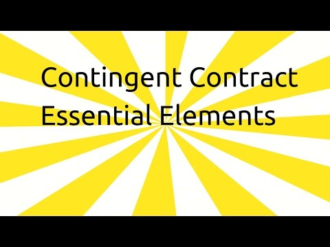 Enforcement Of Contingent Contract