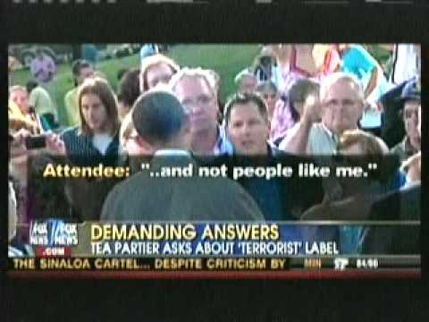 Obama confronted by Tea Party activists in Iowa