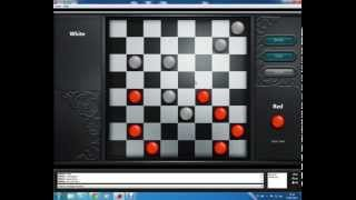 A game of Internet Checkers