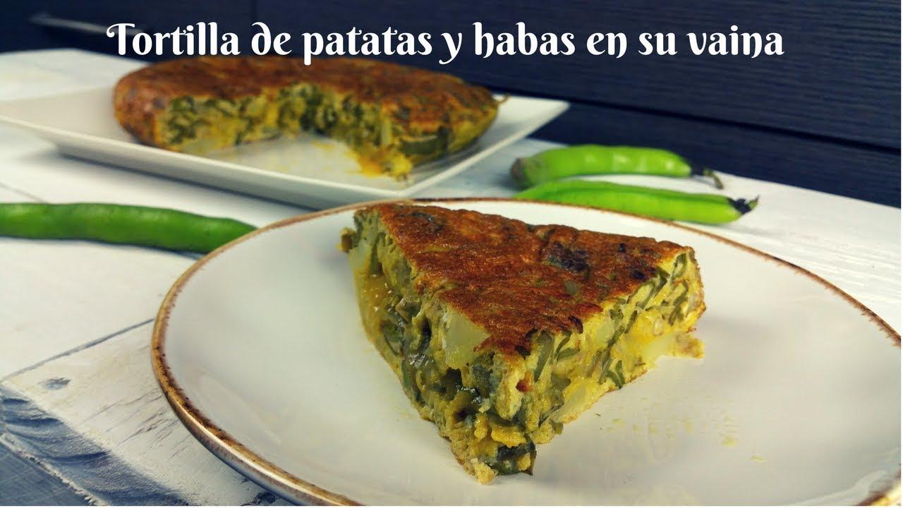 Tortilla De Habas En Su Vaina Y Patatas Receta Fácil Tortilla De Habas Tiernas
