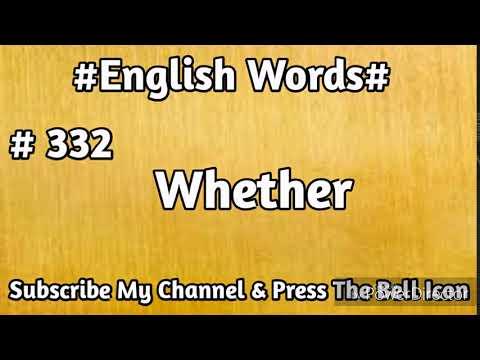 #English#Vocabulary #332 Whether English Word | Learn English Words | Mehran Series