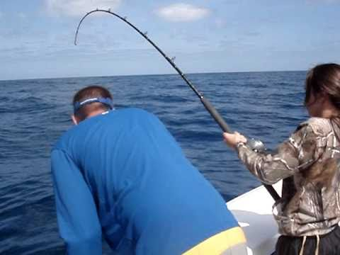 Ponce inlet in new smyrna reeling a king fish youtube for Ponce inlet fishing