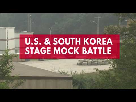 US and South Korea stage mock battle near North Korea border