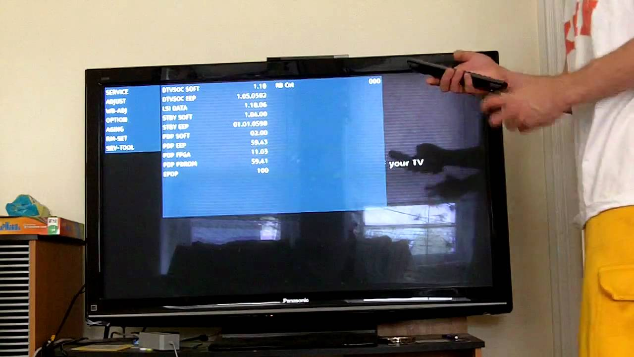how to get service secret rgb menu on a panasonic tv youtube rh youtube com
