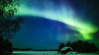 Arctic lights time-lapse during solar storm. Location: Inari, Finla...
