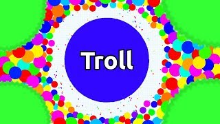 Agar.io TROLLING - DON'T TEAM WITH TROLL - BEST AFK AGARIO TROLLING EVER