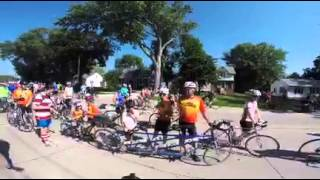 Taking the whole family on RAGBRAI--all on one bike.