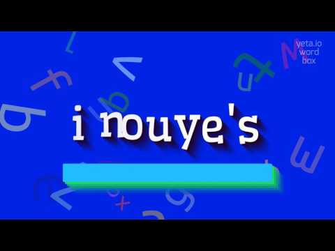 """How to say """"inouye's""""! (High Quality Voices)"""